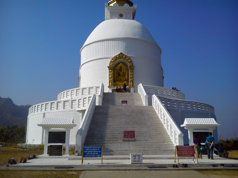 Hiking to World peace pagoda